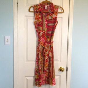 EUC Tacera Button Front Sleeveless Dress